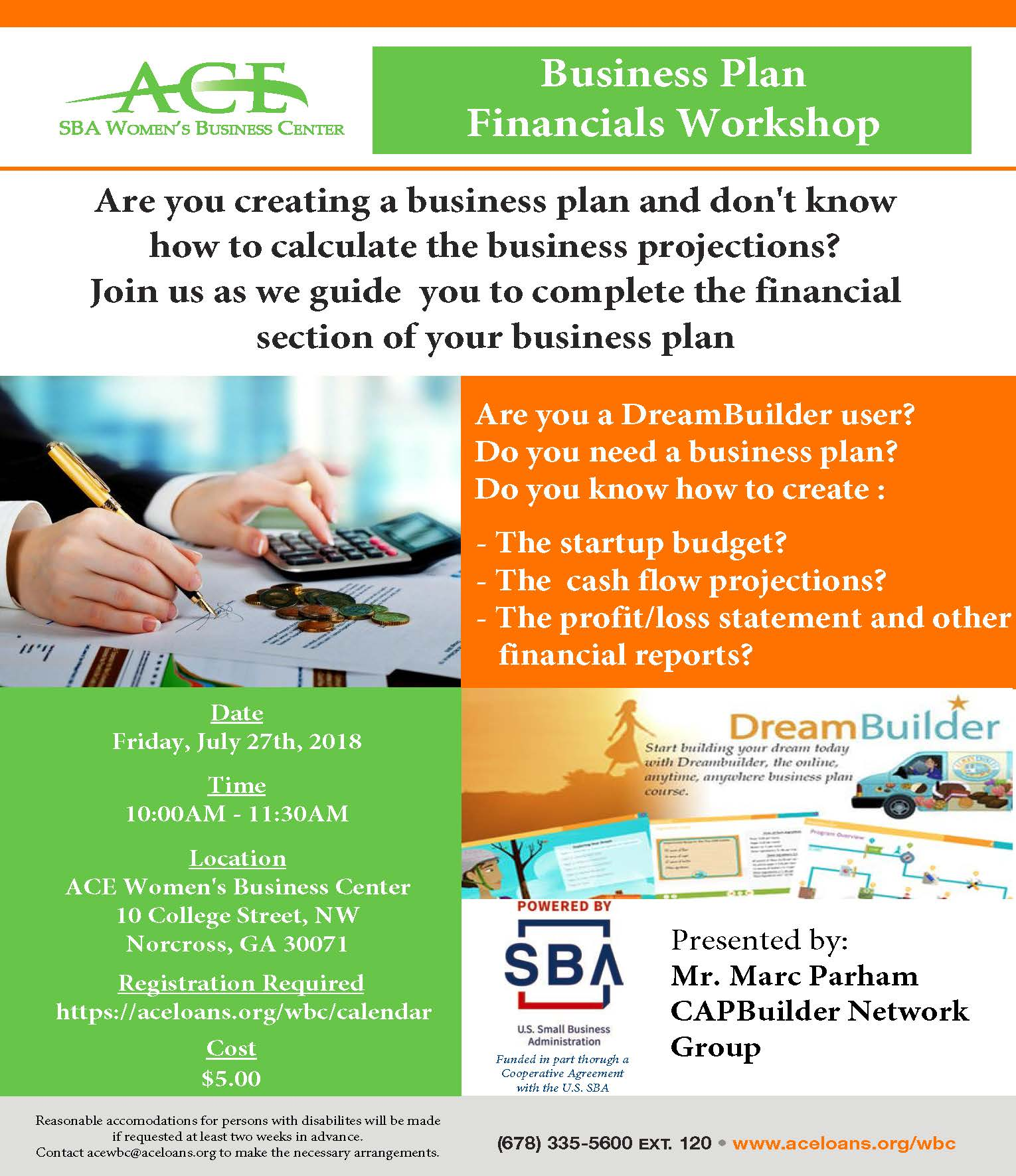business plan financial access to capital workshop access to