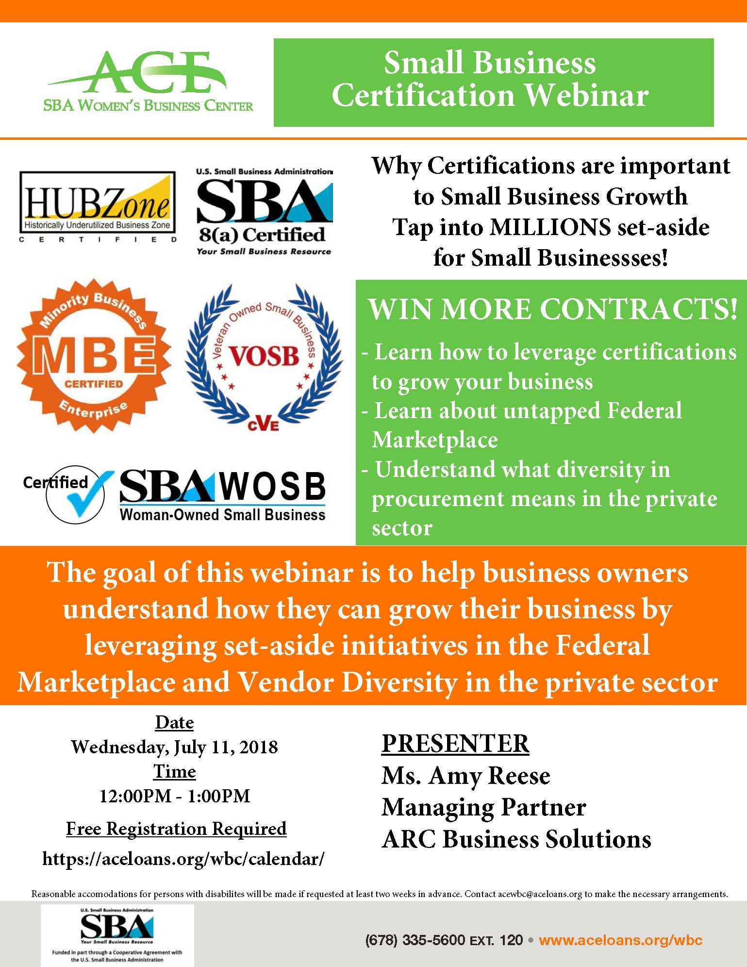 Small Business Certification Webinar Access To Capital For