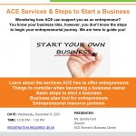 ACE Services & Steps to Start a Business